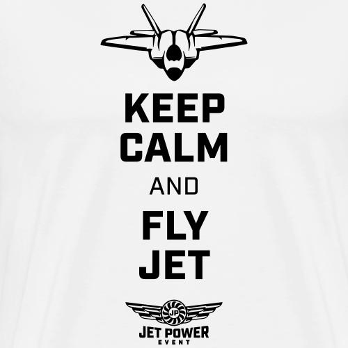 Spruch Keep calm and fly Jet, schwarz - Männer Premium T-Shirt