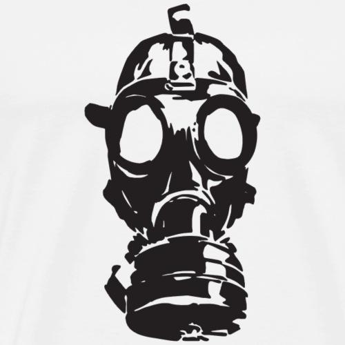 Gasmaske in schwarz - Männer Premium T-Shirt
