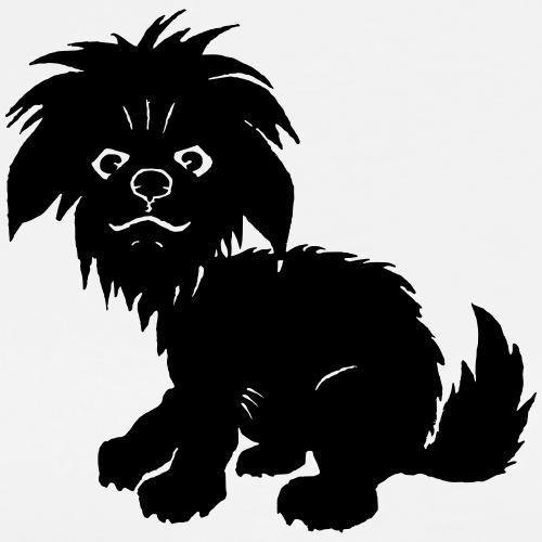 schwarzer Hund - Männer Premium T-Shirt