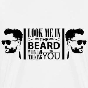Look_me_in_the_beard - Mannen Premium T-shirt