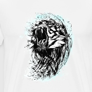tiger lion wild bit cool blood king chef strange L - Men's Premium T-Shirt