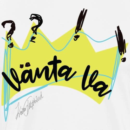 Vänta VA??!! (endast logo) - Premium-T-shirt herr