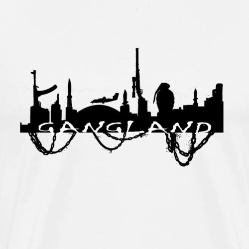 Gangland Stadt Ketten schwarz - Männer Premium T-Shirt