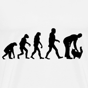 evolution katt - Premium-T-shirt herr