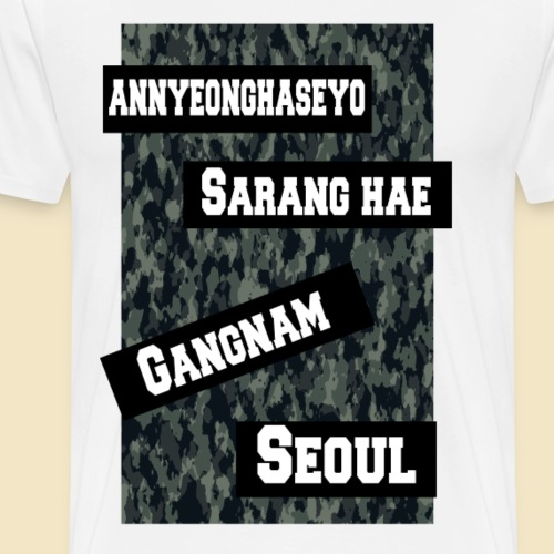 Korea-Words - Männer Premium T-Shirt