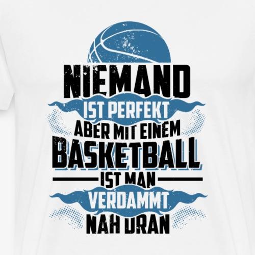 Niemand ist perfekt (Blau) - Basketballshirt - Männer Premium T-Shirt
