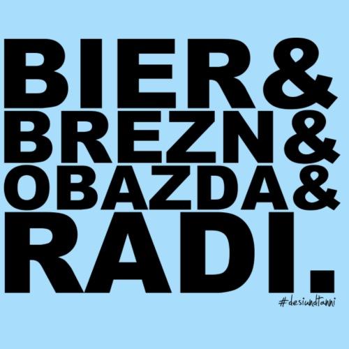 Bier & Brezn & Obazda & Radi. - Männer Premium T-Shirt