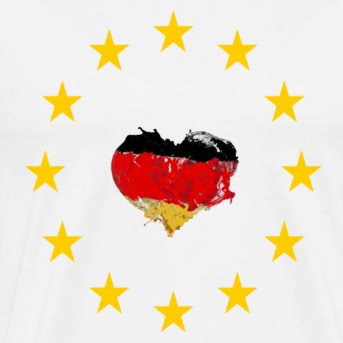 Europa Deutschland Herz - Männer Premium T-Shirt