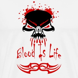 metal t shirts blood is life - T-shirt Premium Homme