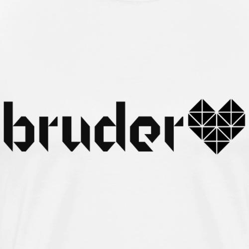 Bruder Herz Origami - Männer Premium T-Shirt