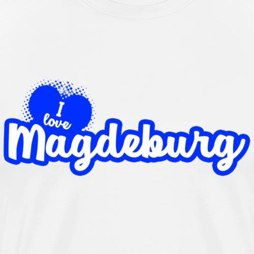 I Love Magdeburg - Männer Premium T-Shirt