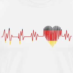 Tyskland PULSE HEART - Premium T-skjorte for menn
