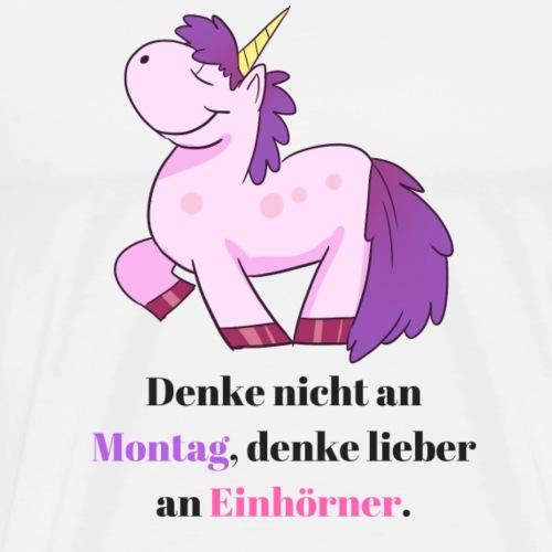 Einhorn Spruch Comic Design - Männer Premium T-Shirt