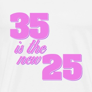 35 is de nieuwe 25 koele quotes - Mannen Premium T-shirt