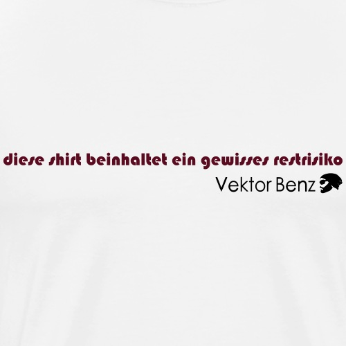 3 1 18 restrisiko - Männer Premium T-Shirt
