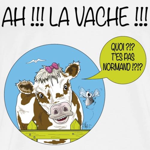 Marguerite Ah la vache !! - Texte noir - T-shirt Premium Homme