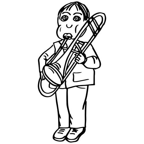 Mike Miller on the trombone - Männer Premium T-Shirt