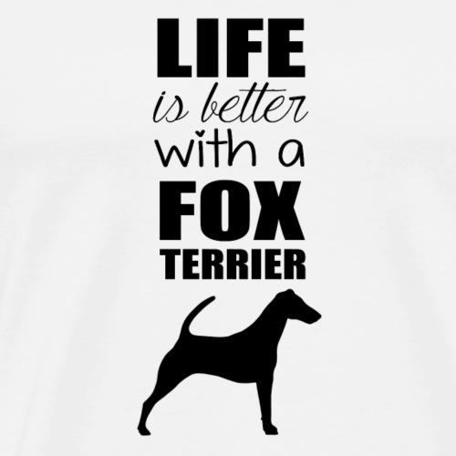 FOX TERRIER BLACK - T-shirt Premium Homme