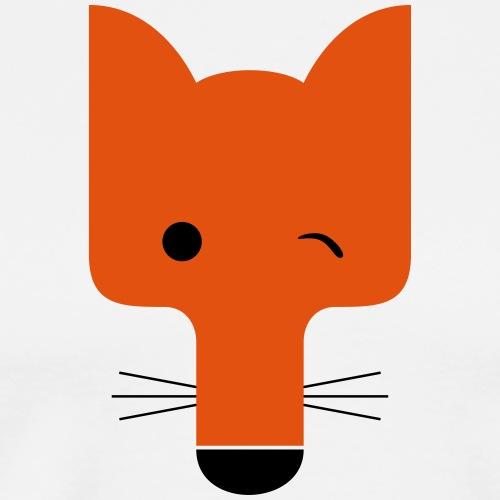 Fuchs blinzelnd - Männer Premium T-Shirt