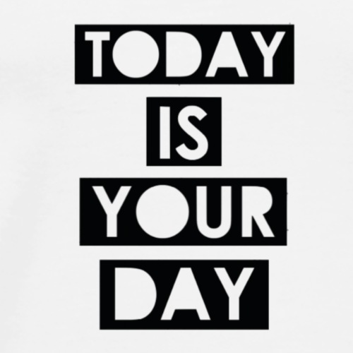 Official Design Kompas Today is your day - Mannen Premium T-shirt
