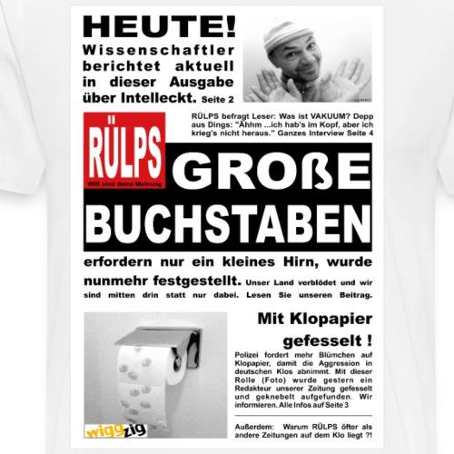 BILD-Zeitung rülps - Männer Premium T-Shirt