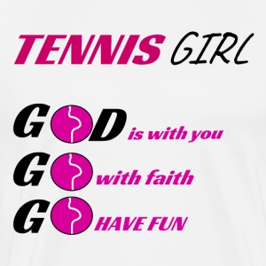 tennis girl, for a special someone. - Men's Premium T-Shirt