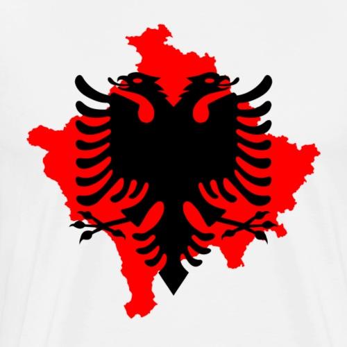 albanisch adler mit 2 köpfen kosovo albania shirt - Männer Premium T-Shirt
