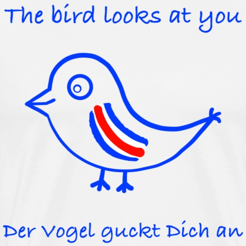 Vogel auf Englisch - Männer Premium T-Shirt