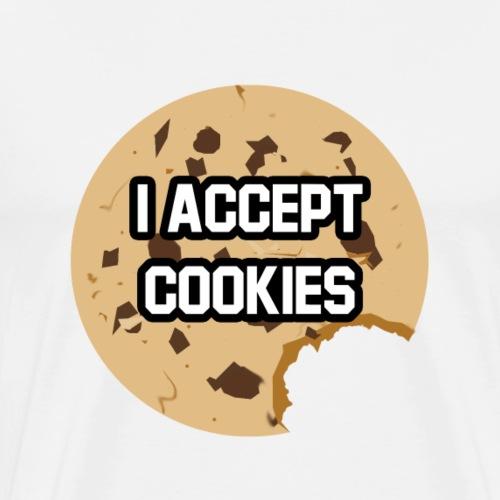 I Accept Cookies - Mannen Premium T-shirt