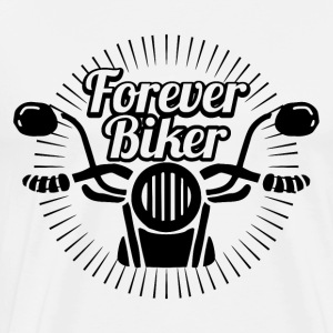 Motorcyclist forever - Men's Premium T-Shirt