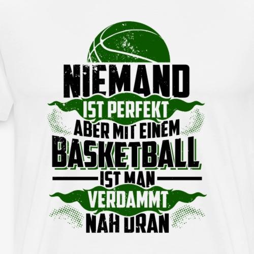 Niemand ist perfekt (Grün) - Basketballshirt - Männer Premium T-Shirt