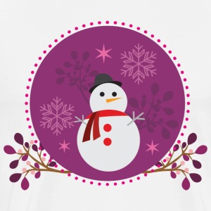 Snowman purple - Men's Premium T-Shirt