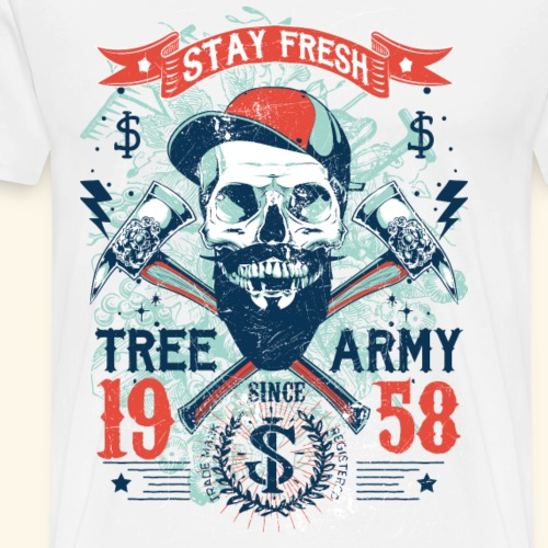 Baum Armee-Shirt Skull Totenkopf-Shirt - Männer Premium T-Shirt