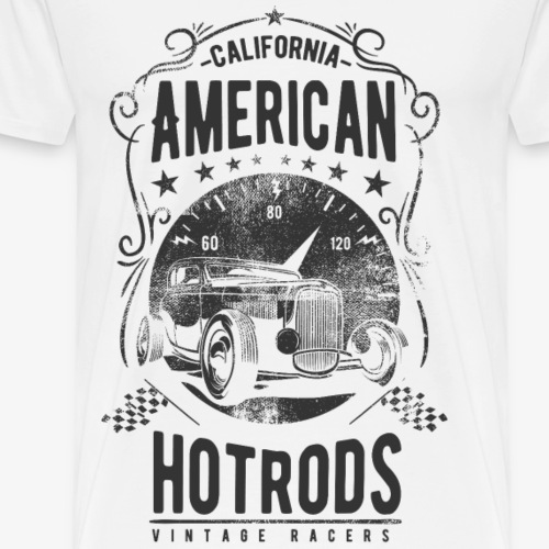 CALIFORNIA AMERICAN HOTRODS - Hotrod Shirt Motiv - Männer Premium T-Shirt