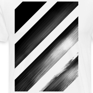 Stripes Diagonal Black - Maglietta Premium da uomo