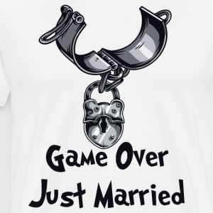 Game Over Just Married - T-shirt Premium Homme