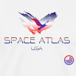 Space Atlas Tee USA - Premium-T-shirt herr