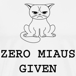 Zero meows Given - Men's Premium T-Shirt