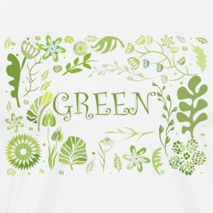 Go green - Premium T-skjorte for menn