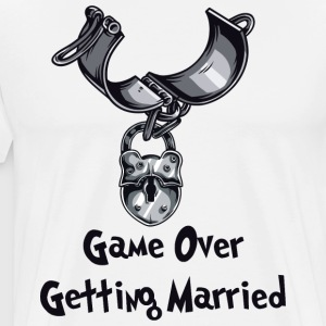 Game Over Getting Married - Premium T-skjorte for menn