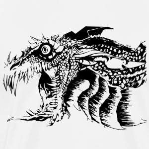 Black and White Dragon. - Männer Premium T-Shirt