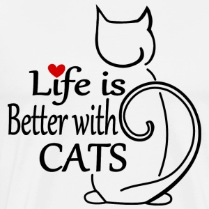 Life is better with Cats - Men's Premium T-Shirt