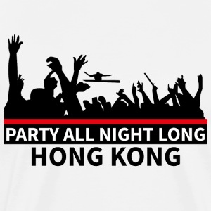 HONG KONG - Party All Night Long - Mannen Premium T-shirt