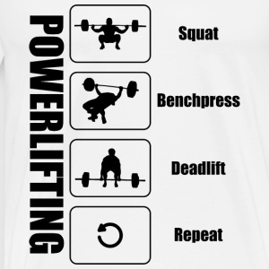 Powerlifter Lifestyle Sort - Herre premium T-shirt