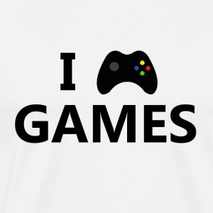 I Love Games 3 - Premium T-skjorte for menn