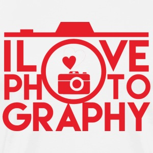 I Love Photography! - Herre premium T-shirt