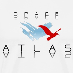 Space Atlas Baseball Tee Red - Mannen Premium T-shirt