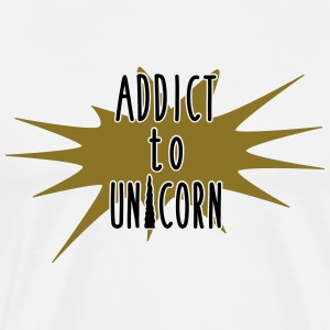 addict to unicorn - Men's Premium T-Shirt