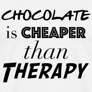 chocolate is Cheaper than therapy - Men's Premium T-Shirt