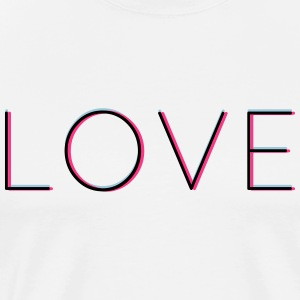 LOVE - love in 3d with Neon Vintage Hipsterfeeling - Men's Premium T-Shirt